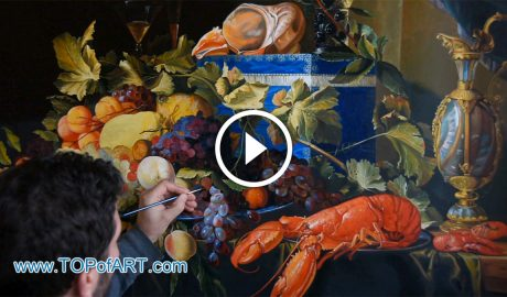 Still Life with Fruit and Lobster by Jan Davidsz de Heem
