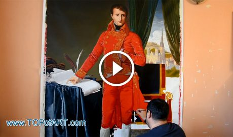 Napoleon as First Consul by Jean Auguste Dominique Ingres - Painting Reproduction Video