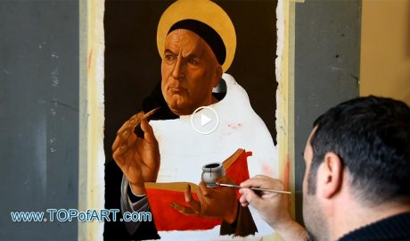 St. Thomas Aquinas by Botticelli - Painting Reproduction Video