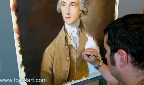 Portrait of Edward Swinburne by Gainsborough - Painting Reproduction Video