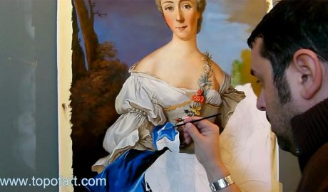 Portrait of a Lady by Nattier - Painting Reproduction Video