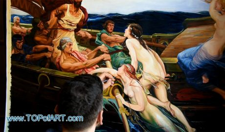 Ulysses and the Sirens by Draper - Painting Reproduction Video