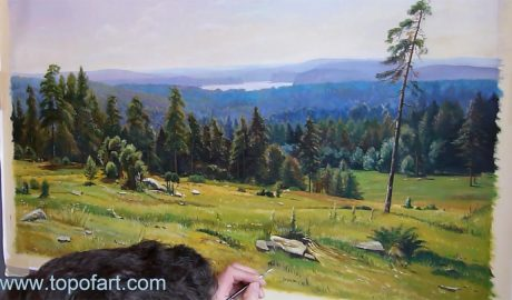 Woodland Vistas by Shishkin - Painting Reproduction Video
