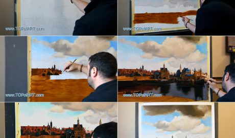 Vermeer - View of Delft by TOPofART