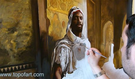 The Moorish Chief by Charlemont - Painting Reproduction Video