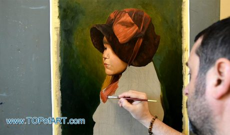Madeleine Gerome with Hat by Gerome - Painting Reproduction Video