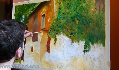 Farmhouse in Kammer am Attersee by Klimt - Painting Reproduction Video