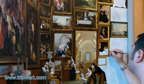 Gallery of the Louvre by Morse - Painting Reproduction Video