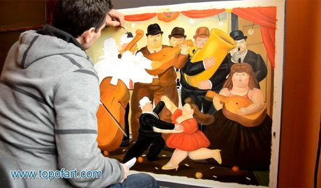 Ball in Colombia by Botero - Painting Reproduction Video