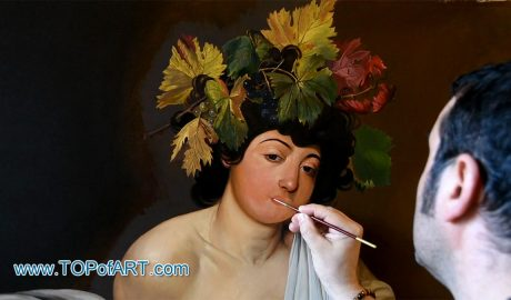 Bacchus by Caravaggio - Painting Reproduction Video