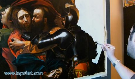 The Taking of Christ by Caravaggio - Painting Reproduction Video