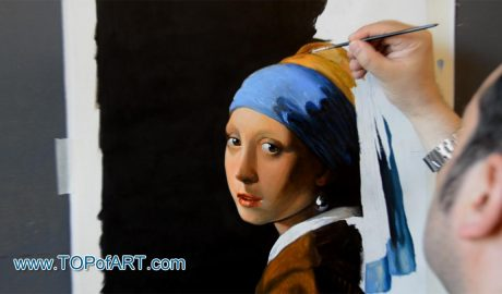 The Girl with a Pearl Earring by Vermeer - Painting Reproduction Video