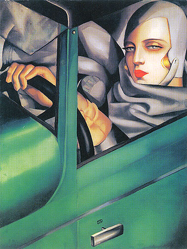 Autoportrait (Tamara in the Green Bugatti)