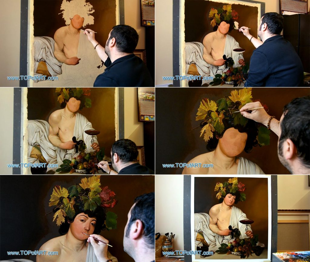 Bacchus by Caravaggio - Painting Reproduction