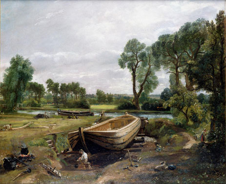 Boat Building near Flatford Mill