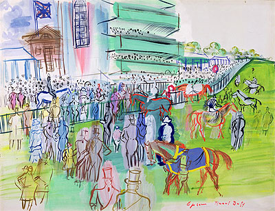 In Front of the Grandstand at Epsom