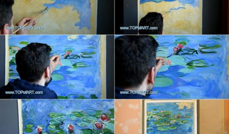 Water Lilies by Monet - Painting Reproduction