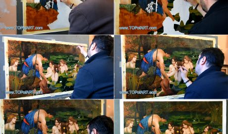 Hylas and the Nymphs by Waterhouse - Painting Reproduction
