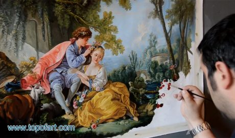 The Four Seasons: Spring by Boucher - Painting Reproduction Video