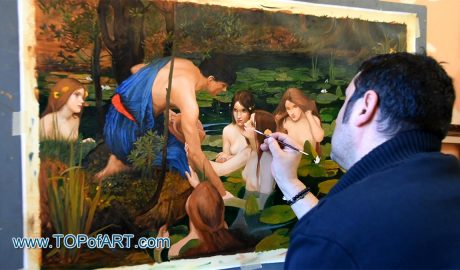 Hylas and the Nymphs by Waterhouse - Painting Reproduction Video