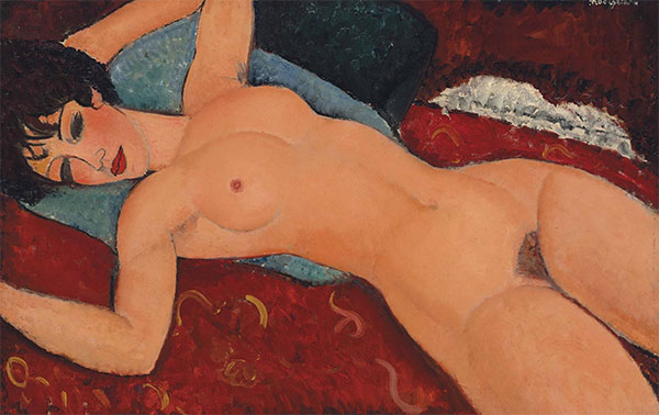 Red Nude (Nude on a Cushion)