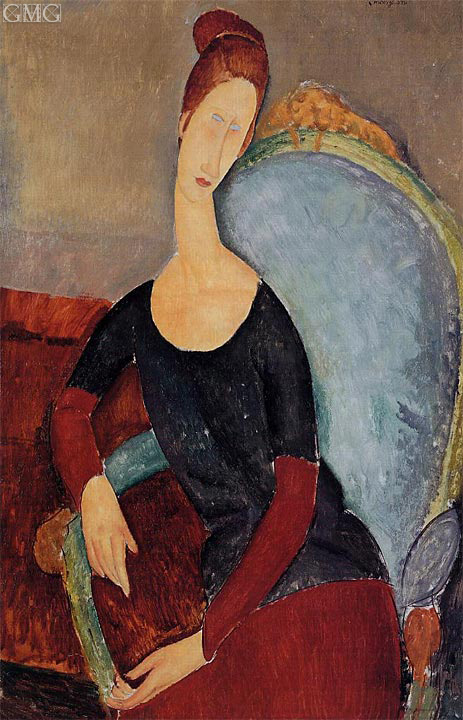 Portrait of Jeanne Hebuterne Seated in an Armchair