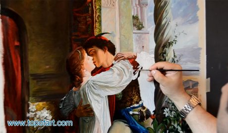 Romeo and Juliet by Dicksee - Painting Reproduction Video