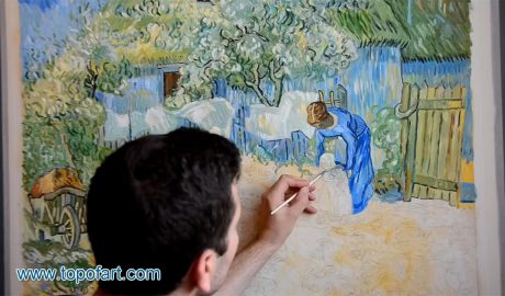 First Steps (after Millet) by van Gogh - Painting Reproduction Video