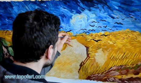 Wheat Field with Crows by van Gogh - Painting Reproduction Video