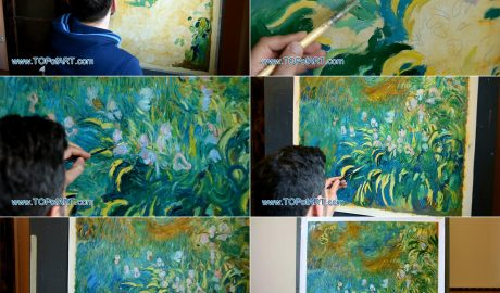 Claude Monet - Irises - Oil Painting Reproduction