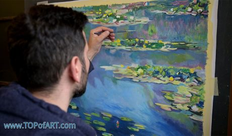 Water Lilies by Monet - Painting Reproduction Video