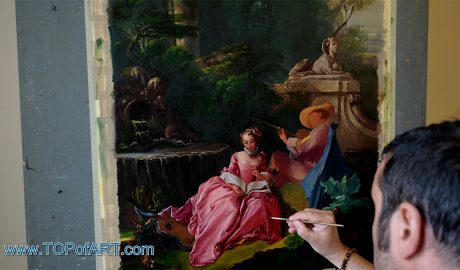 The Music Lesson by Boucher - Painting Reproduction Video