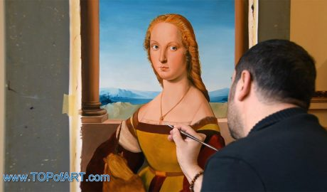 Lady with a Unicorn by Raphael - Painting Reproduction Video