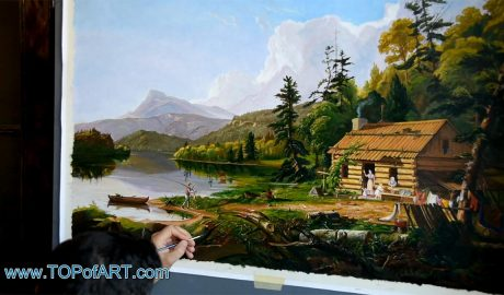 Home in the Woods by Thomas Cole - Painting Reproduction Video