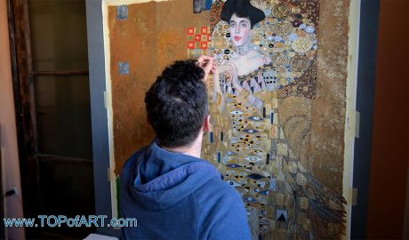 Portrait of Adele Bloch-Bauer I by Klimt - Painting Reproduction Video