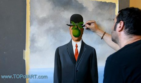 The Son of Man by Magritte - Painting Reproduction Video