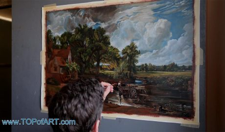 The Hay Wain by Constable - Painting Reproduction Video