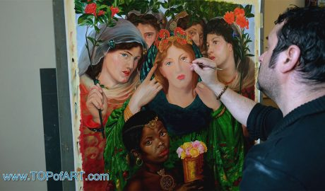 The Beloved (The Bride) by Rossetti - Painting Reproduction Video
