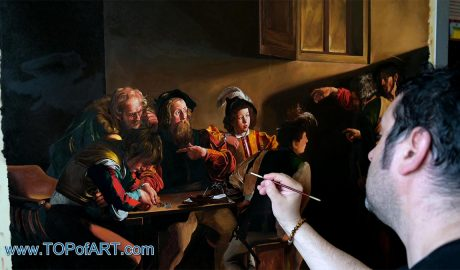 Michelangelo Merisi da Caravaggio - The Calling of Saint Matthew, 1599 - Video of the Process of Creation of the Painting - TOPofART Blog