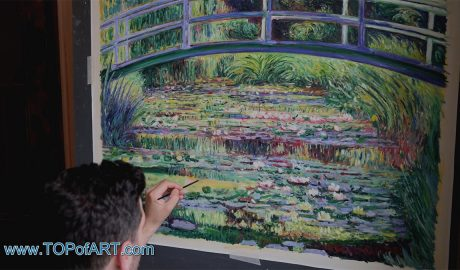 "Claude Monet - ""Water Lily Pond, (Symphony in Green)"" - Process of Creation of the Painting in Images"