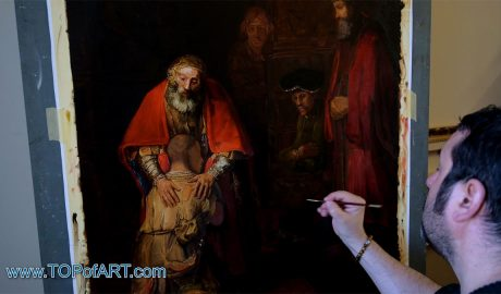 The Return of the Prodigal Son by Rembrandt - Painting Reproduction Video