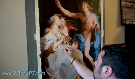 """Pompeo Girolamo Batoni - """"Apollo and Two Muses"""" - Process of Creation of the Painting in Images"""
